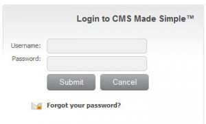 CMS made simple login