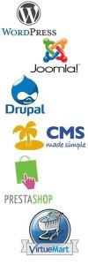 content management system logos