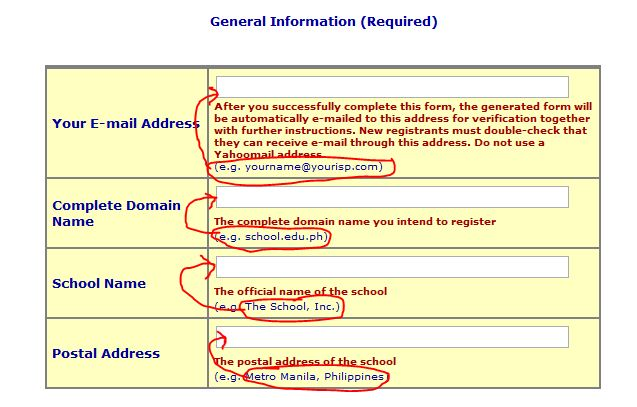edu domains general information