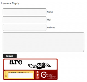 Blog comment with captcha