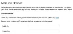 Captcha API keys