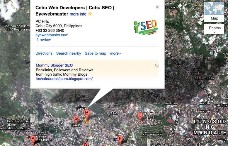 Google Map Cebu Philippines