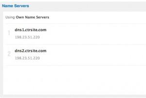 Dot.ph DNS settings to CTRSITE