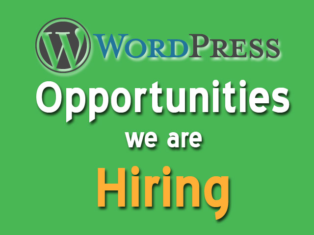 Wordpress Job Hiring