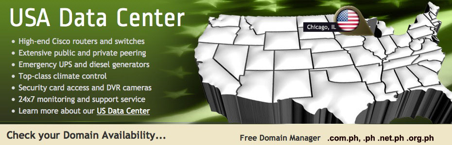 Philippines Domain and Web Hosting Provider for .com.ph; .ph domain .net.ph domain; org.ph domains