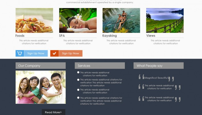 Philippines resort website template design
